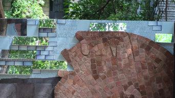 mosaic of bricks