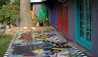 Mosaic Tile Backyard Patio
