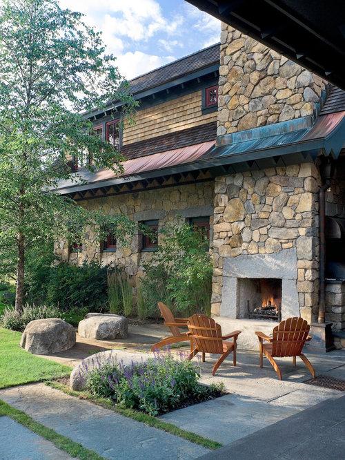 Mountain lodge design ideas remodel pictures houzz - Mountain garden landscaping ideas ...