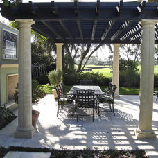 Mediterranean Patio by Blakely and Assoc. Landscape Architects, Inc.