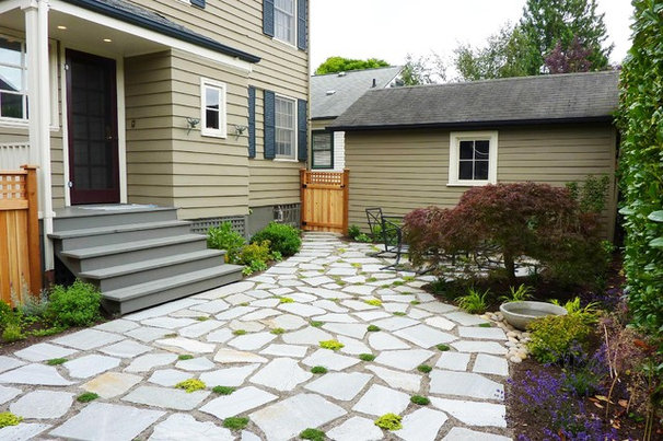 Contemporary Patio by Erin Lau Landscape Design- Seattle