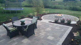 Multi Level Brick Patio w/Gas Fire Pit