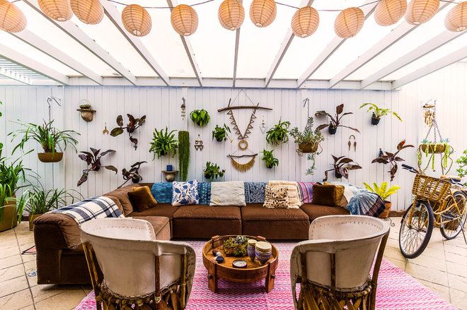 Beach Style Patio by Bronwyn Poole of Touch Interiors
