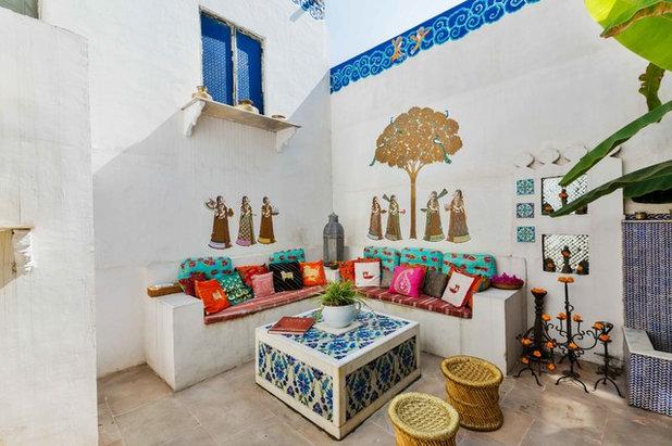 Eclectic Patio by Shan Bhatnagar Designs