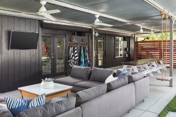 Eclectic Patio by Design Shop Interiors