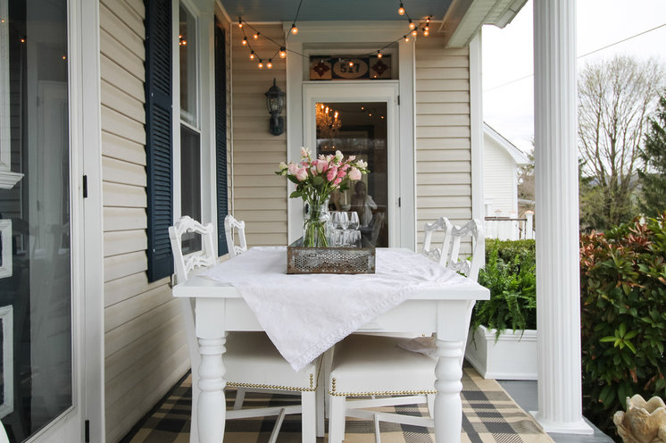 Eclectic Patio by Michaela Dodd