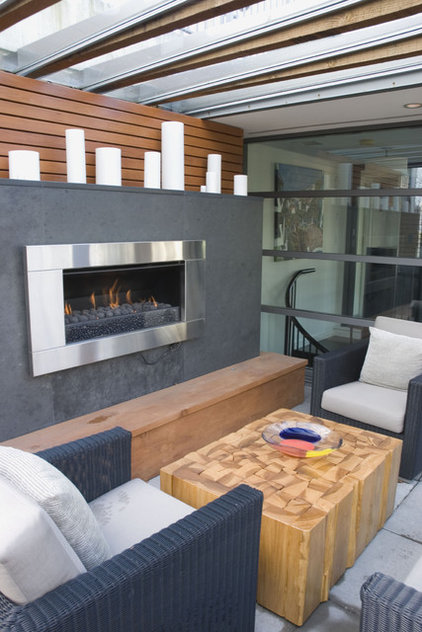 Contemporary Patio by Heather Merenda