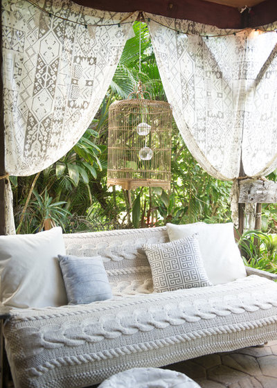 Shabby-Chic Style Patio by Ashley Camper Photography