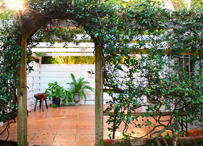 Eclectic Patio by Mina Brinkey