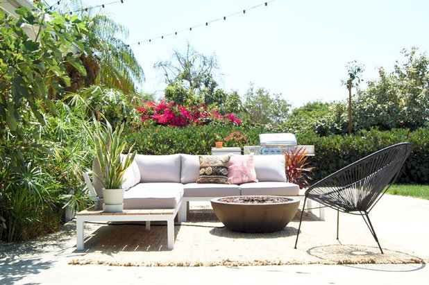 Simple Eclectic Patio by Corynne Pless