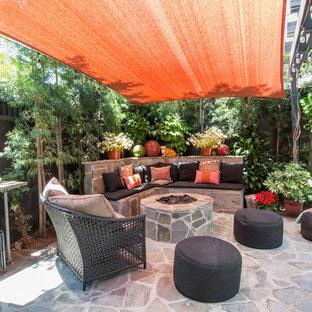 Idées déco pour une terrasse éclectique.