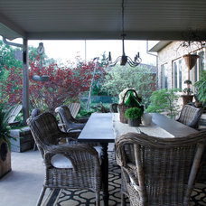 Eclectic Patio by Esther Hershcovich