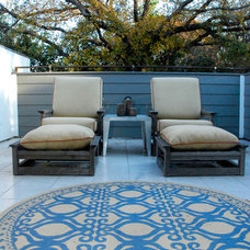 Transitional Patio by Kara Mosher