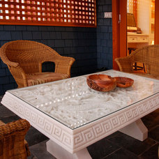 Transitional Patio by Heather Merenda