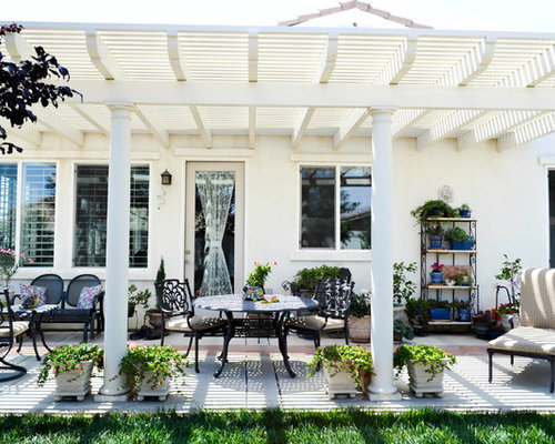 White Pergola Houzz