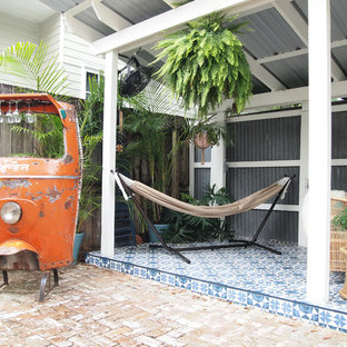 Inspiration for an eclectic patio in New Orleans.
