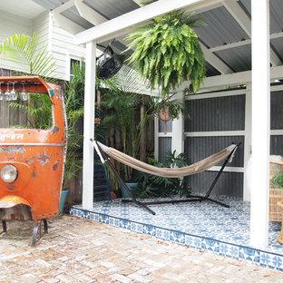 Immagine di un patio o portico bohémian