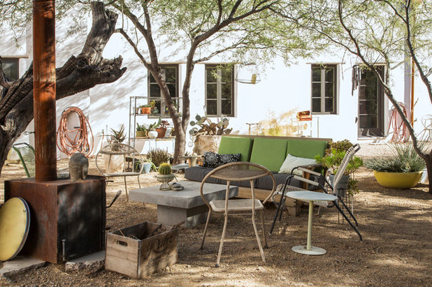 Eclectic Patio by Margot Hartford Photography