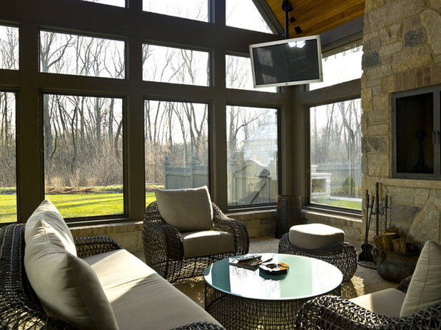 Traditional Patio My Houzz: Tudor Meets Contemporary