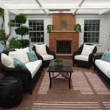 Traditional Patio by Nadia Designs