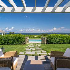 Beach Style Patio by Sudbury Design Group