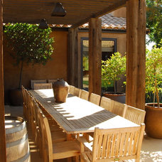 Mediterranean Patio by Westfall Design Studio