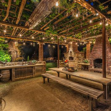 Napa Winery Outdoor Kitchen