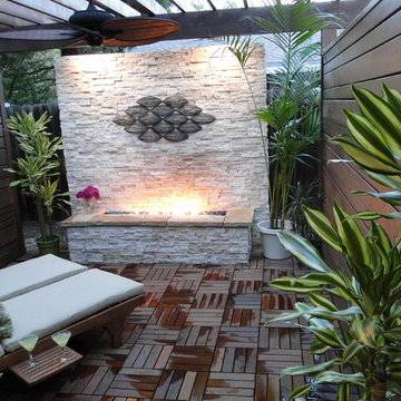 Natural Outdoor Fireplace Patio
