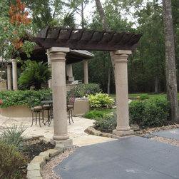 Natural Stone Cantera Columns - R&W Stone.