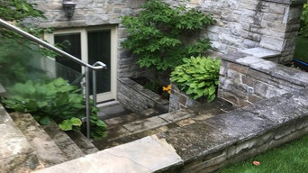 Natural Stone Cleaning Before & After