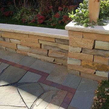 Natural stone patio & walls