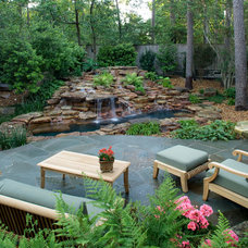Tropical Patio by Exterior Worlds Landscaping & Design