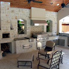 Mediterranean Patio by Knaak Design Group