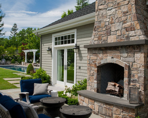 Save PhotoLarge Outdoor Fireplace   Houzz. Large Outdoor Fireplace. Home Design Ideas