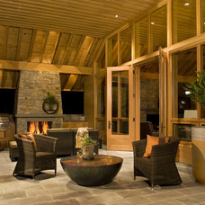 Transitional Patio by Carlton Architecture