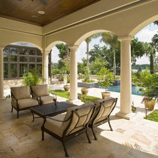 Traditional Patio by Slocum Platts Architects