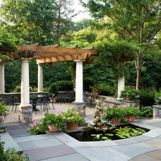 Traditional Patio by Peter Zimmerman Architects
