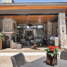 Transitional Patio by High Pointe Custom Homes LLC