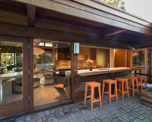 Beautiful Pool House Bar Designs Outdoor Poolhouse Houzz Intended Decorating