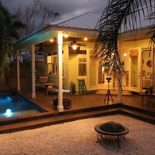 Foto di un patio o portico stile marino