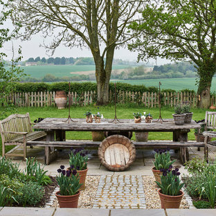 Inspiration for a country patio in Wiltshire with no cover.