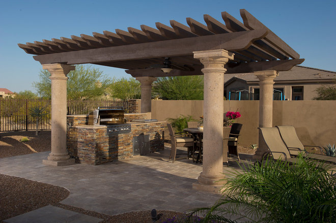Traditional Patio by California Pools & Landscape