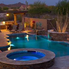 Contemporary Patio by California Pools & Landscape