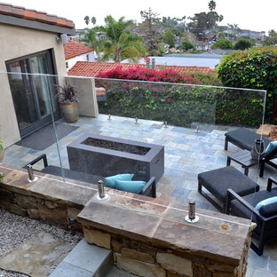 Inspiration for a contemporary patio remodel in Orange County