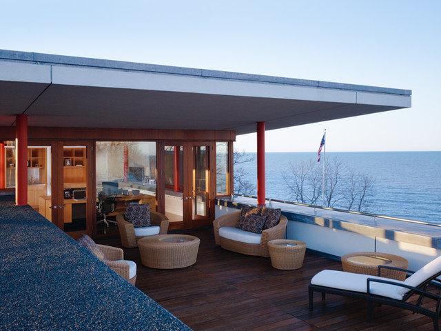 Modern Patio by Thomas Shafer Architects LLC