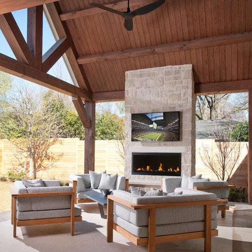 Outdoor Fireplace Tv Houzz