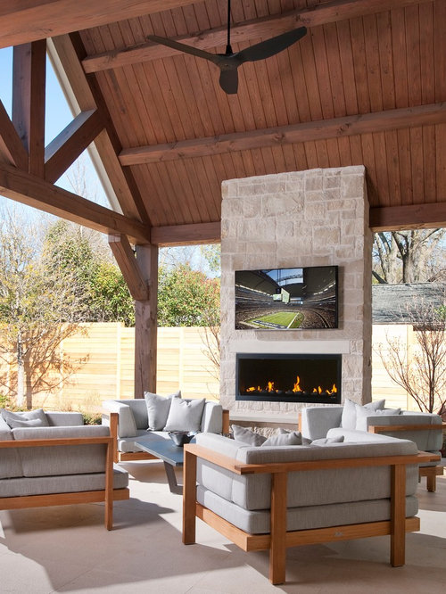 Outdoor fireplace tv home design ideas pictures remodel - Outdoor fireplace with tv ...