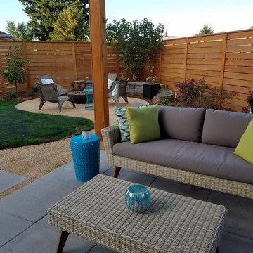Northeast Portland - Blessing Landscape Design, Client Installed Backyard