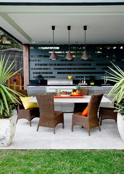 Contemporary Patio by Point 2 Design