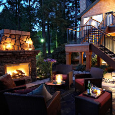 Traditional Patio Northwest Contempory Exterior Remodel